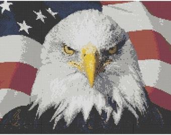 American Eagle Cross Stitch E-Pattern