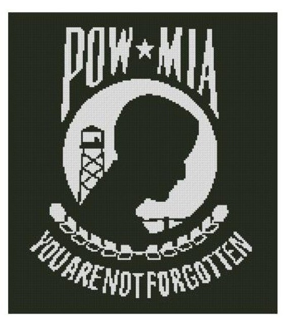 POW MIA Cross Stitch Kit