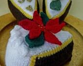 Knitting Pattern CHRISTMAS Wedding CELEBRATION CAKE pdf