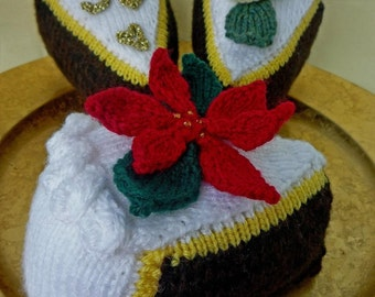 Knitting Pattern CHRISTMAS Wedding CELEBRATION CAKE pdf