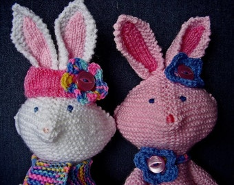 knitting pattern for HAPPY HIPPY BUNNY