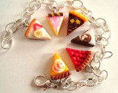 SALE bracelet with cakes - handmade with polymer clay