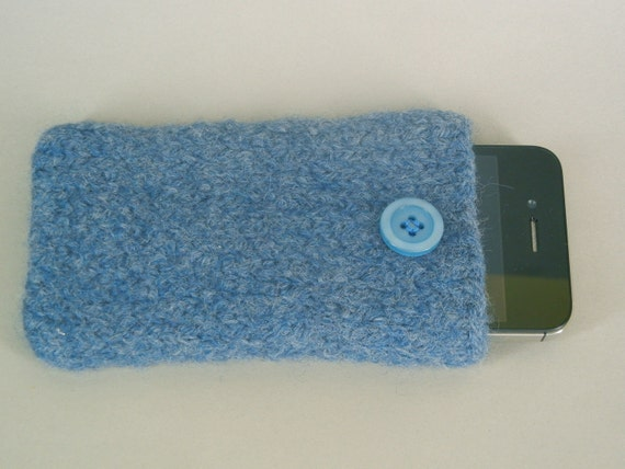 iPhone 4/iPod Touch Sleeve Hand Knit and Felted