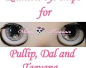 Pullip eye chips OOAK REALISTIC custom Pullip, Dal, Taeyang eye chips set D19, by Ana Karina. UV laminated