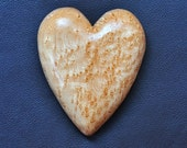 Heart Home Decor - Birdseye Maple Heart Hand Carved Wall Hanging - Anniversay Gift - Valentine Decoration
