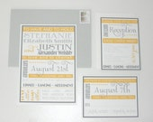 Vintage Yet Modern Playbill Poster Style Wedding Invitation