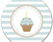 "Personalized Happy Birthday 10"" Melamine Plate"