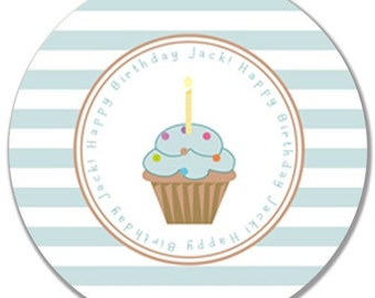 "Personalized Happy Birthday 10"" Melamine Plate"