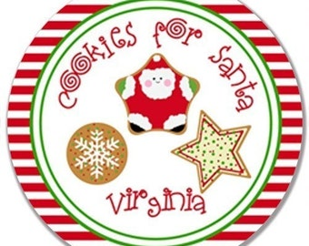 Personalized Melamine Plate (Cookies for Santa)