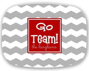 Custom Team Platter--Customize with Your Team's Colors and Slogan