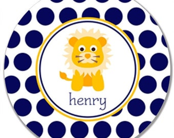 "Personalized 10"" Melamine Plate-Little Lion"