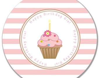 "Personalized 10"" Melamine Happy Birthday Plate"