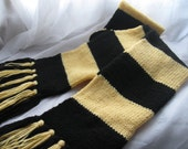 RESERVED: Black and Butter, Wizarding House Scarf