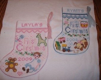 Personalized Baby's First Christmas Sock
