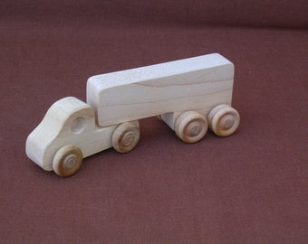 Wood Toy Truck--Semi