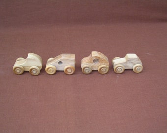Toy Cars--Small Wood - Set C