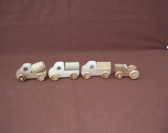 Toy Cars--Small Wood-Set A