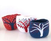 Woodland  - Handfelted Wool bowls- set of 3