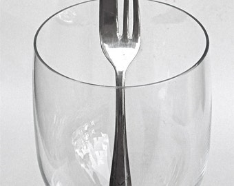 please pass the fork  ...  vintage   ...   petite silver serving fork