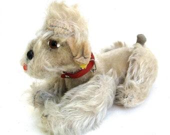 charming original vintage steiff dog   ...  snobby  poodle