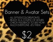 BANNER and AVATAR sets, ETSY and ARTFiRE