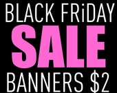 BLACK FRIDAY shop BANNERS and avatar sets