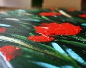 Red Gardens - Original Acrylic Painting