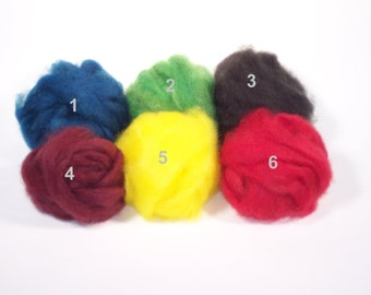 Mohair Roving - Assorted Colors - 6 ounces