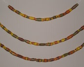Brown, Green, Orange, and Yellow Paper Beads RESERVED for KristinNY