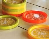 fruity vintage coaster set