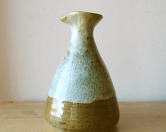 Handmade Organic Wheelthrown Form Earth Toned Ceramic Pitcher or Vase.