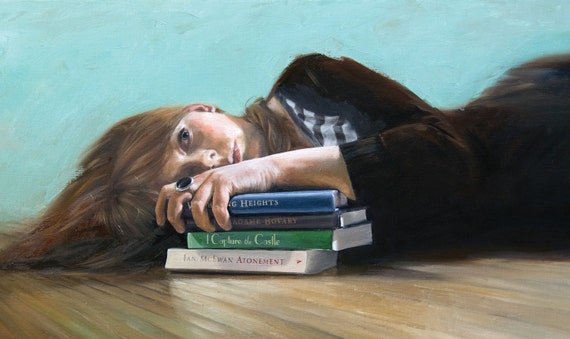 Lost - Original Oil Painting by Claire Elan 24x48