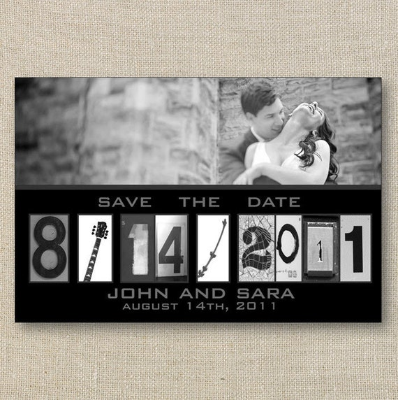 Save the Date - Typography Alphabet Photography Digital Printable File