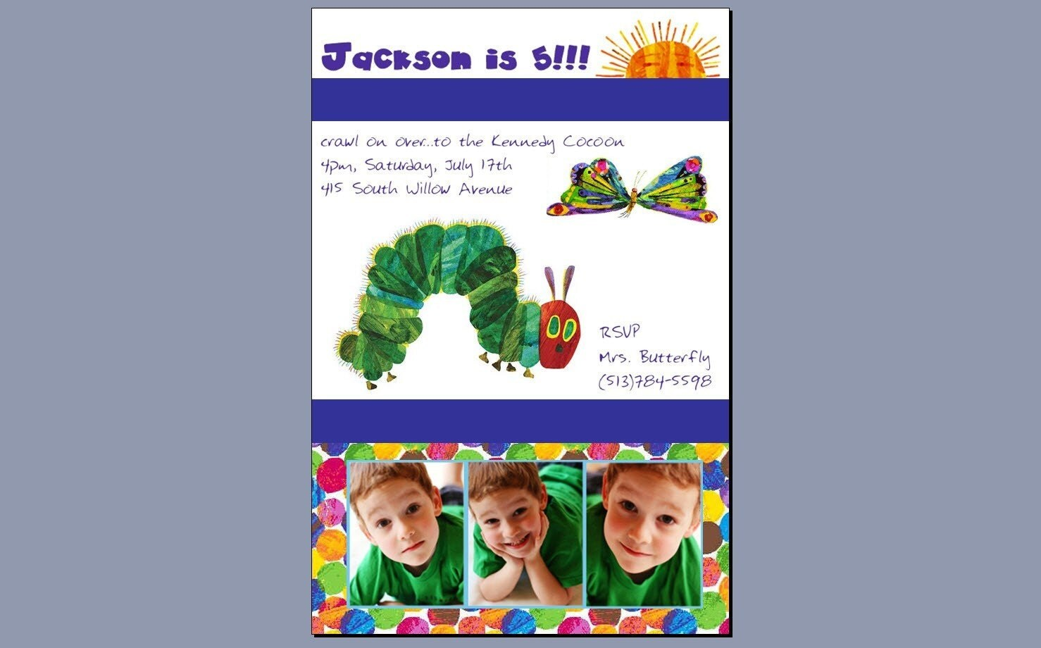 Hungry Caterpillar Invite is best invitations ideas