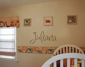 CUSTOMIZABLE CUSTOM Name Vinyl lettering Wall art words - You choose font, color...BUY 2 GET 1 FREE