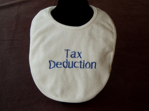 Embroidery. Baby bib. Baby shower gift. Gifts for baby. Infant Embroidered Baby Bib. Tax Deduction- in blue- accounting- customize this
