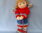 Knitting Pattern - TILLY - knitted toy doll - email PDF