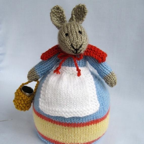 ROWENA RABBIT - SEWING COMPANION - PDF email knitting pattern