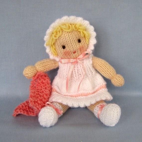 Daisy Doll Knitting Pattern : Little Daisy doll knitting pattern INSTANT DOWNLOAD