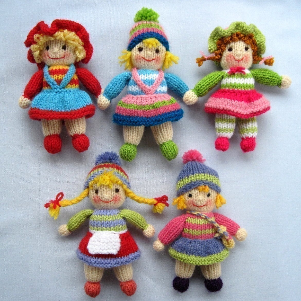 JOLLY TOTS toy dolls PDF email knitting pattern