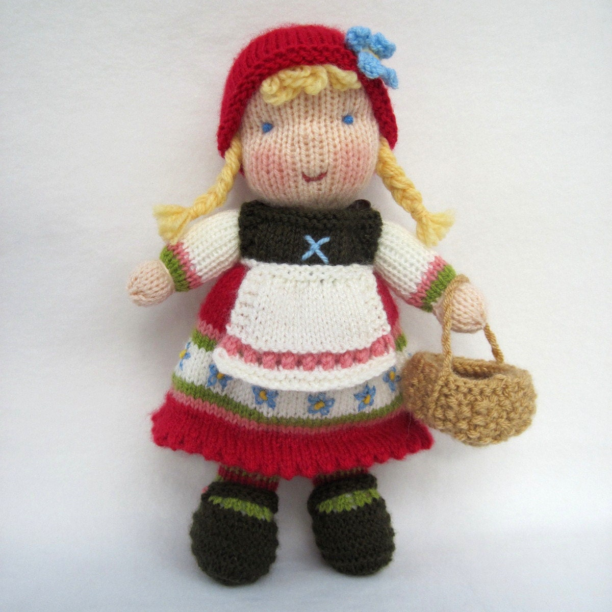 Fern and Flora doll knitting pattern Waldorf by dollytime ...