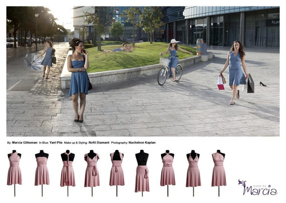 CRAZY HOLIDAY SALE-Pale Pink Convertible Dress