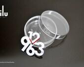 Modern Design White Clock Miniature for Dollhouse, Blythe, Lati, Puki