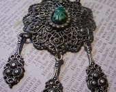 Vintage Egyptian Revival Festoon style Scarab necklace