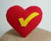 Tick Heart Brooch Pin