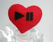 Listen To Your Heart Felt Brooch Pin