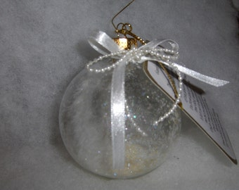 Angel Feather Memory Ornament