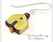 Rowhouse  - handmade ceramic house bead EARRINGS