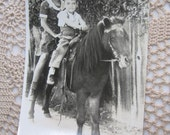 A Pony Ride Vintage Photo Snapshot
