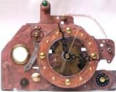 Steampunk Desk Clock Copper